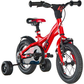 s'cool XXlite 12 alloy Kids red/black matt